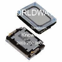 2403 260 00091 - Knowles - 揚聲器和傳感器