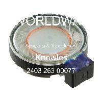 2403 263 00077 - Knowles - 揚聲器和傳感器