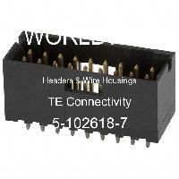 5-102618-7 - TE Connectivity AMP Connectors - 集管和線殼