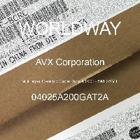 04025A200GAT2A - AVX Corporation - 多层陶瓷电容器MLCC - SMD/SMT