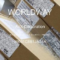 06031C681JA74A - AVX Corporation - 多层陶瓷电容器MLCC - SMD/SMT
