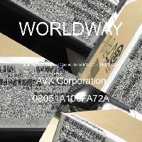 08051A100FA72A - AVX Corporation - 多层陶瓷电容器MLCC - SMD/SMT
