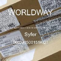 0603J0500151KQT - Syfer - 多層陶瓷電容器MLCC  -  SMD / SMT