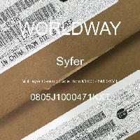 0805J1000471KXT - Syfer - 多层陶瓷电容器MLCC - SMD/SMT