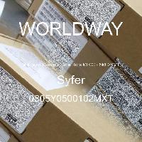 0805Y0500102MXT - Syfer - 多层陶瓷电容器MLCC - SMD/SMT