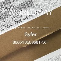 0805Y0500681KXT - Syfer - 多层陶瓷电容器MLCC - SMD/SMT