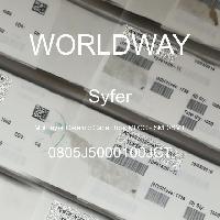 0805J5000100JCT - Syfer - 多层陶瓷电容器MLCC - SMD/SMT