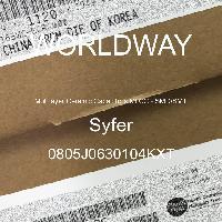 0805J0630104KXT - Syfer - 多层陶瓷电容器MLCC - SMD/SMT